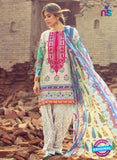 SC 13160 Beige and Multicolor Cambric Cotton Pakistani Suit