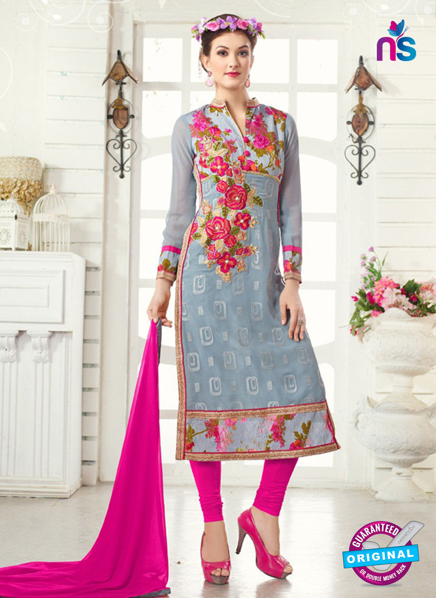 AZ 3668 Grey Georgette Party Wear Suit