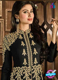 AZ 3686 Black Faux Georgette Anarkali Suit