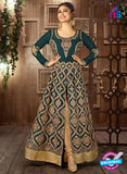 Arihant 14008 B Sea Green Embroidered Faux Georgette Party Wear Suit