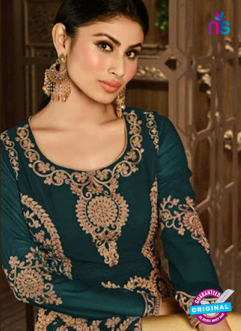 Arihant 14008 B Sea Green Embroidered Faux Georgette Party Wear Suit Online