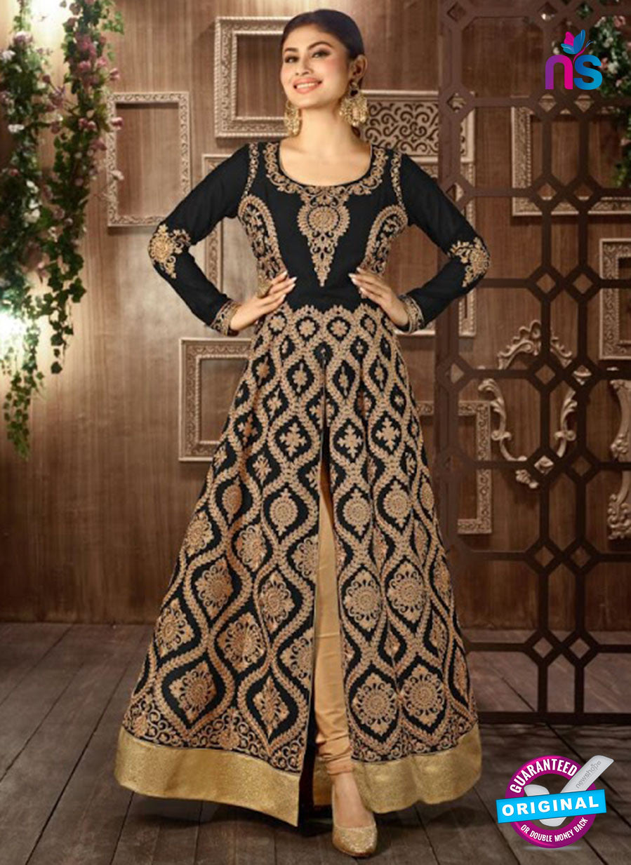 Arihant 14008 C Black Embroidered Faux Georgette Party Wear Suit