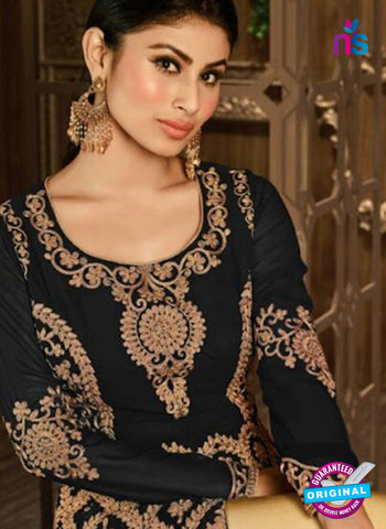 Arihant 14008 C Black Embroidered Faux Georgette Party Wear Suit Online