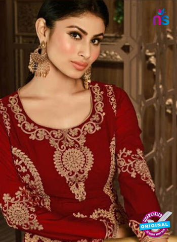Arihant 14008 D Maroon Embroidered Faux Georgette Party Wear Suit Online