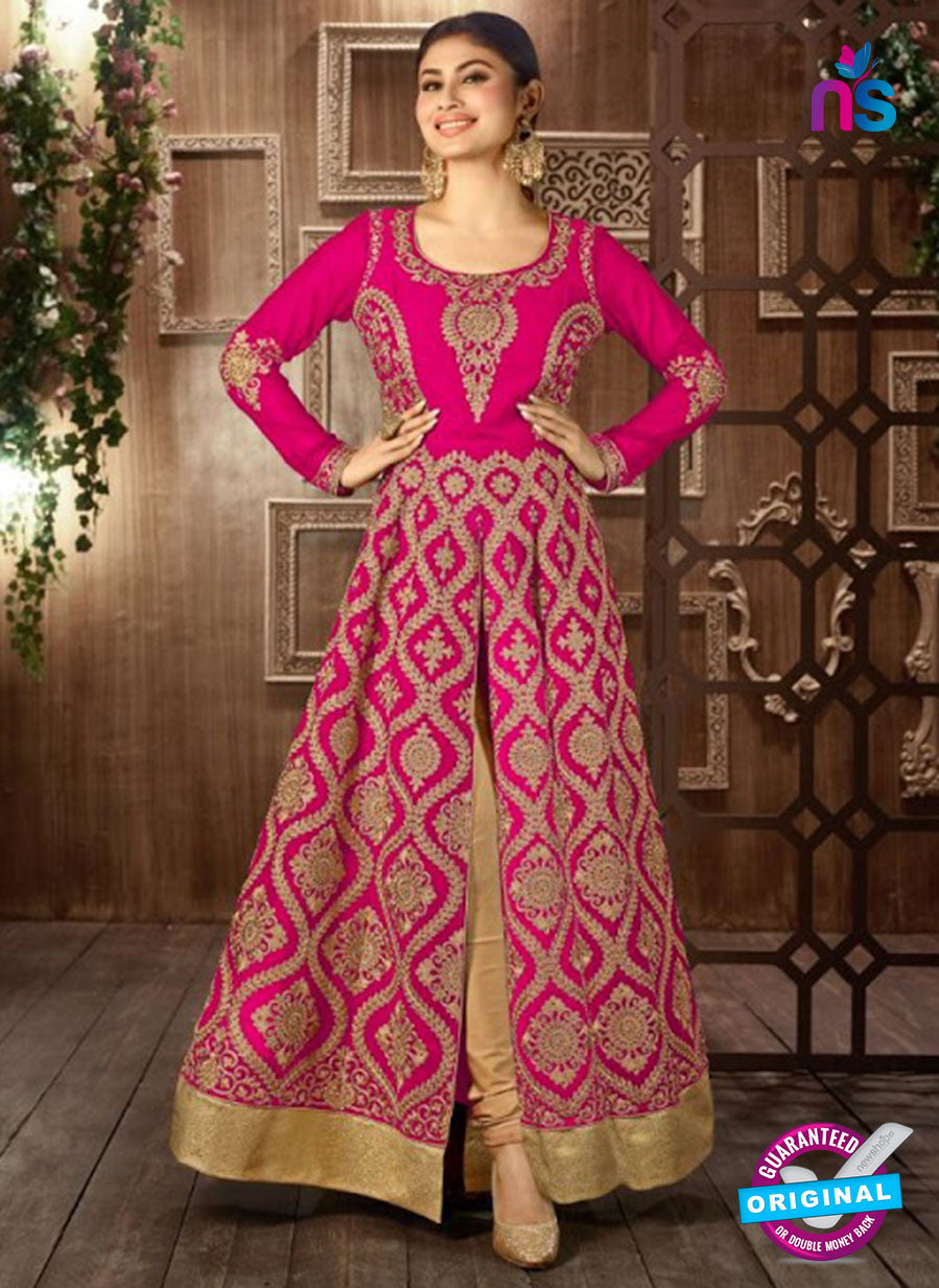 Arihant 14008 E Pink Embroidered Faux Georgette Party Wear Suit
