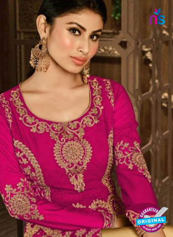 Arihant 14008 E Pink Embroidered Faux Georgette Party Wear Suit Online