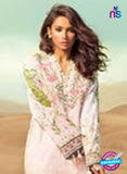 SC 13161 White and Multicolor Cambric Cotton Pakistani Suit