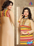 SC 13293 Beige and Multicolor Printed Cambric Lawn Straight Suit online