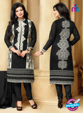SC 13294 Black and White Printed Cambric Lawn Straight Suit