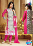 SC 13298 Beige and Pink Cambric Lawn Straight Suit