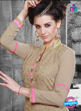 NS11126 Brown and Pink Faux Georgette Straight Suit Online