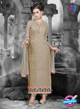 NS11126 Brown and Pink Faux Georgette Straight Suit