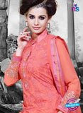 NS11129 Peach Faux Georgette Straight Suit Online
