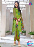 Kalakirti 1402 Green Cotton Party Wear Suit