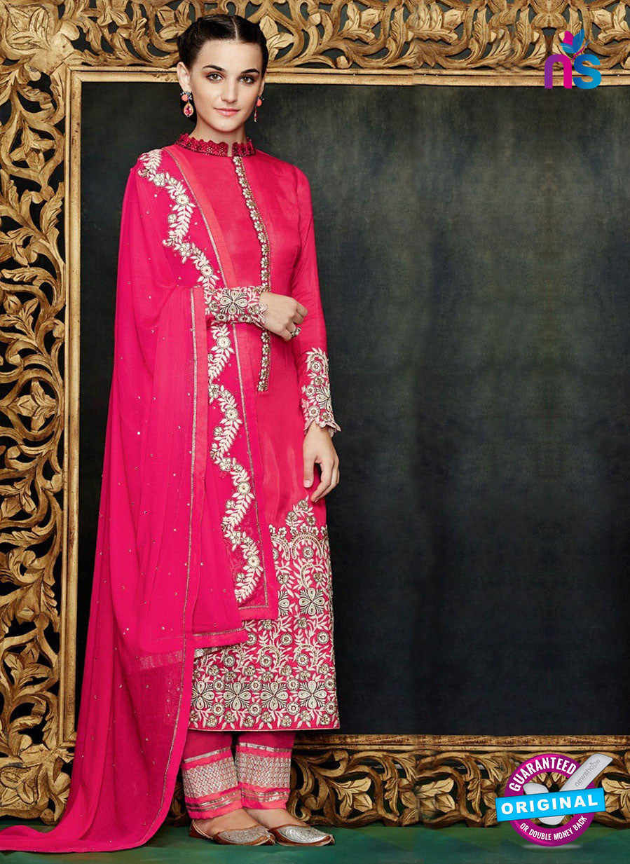 Kimora 1402 Pink Georgette Party Wear Straight Suit