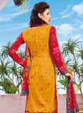 Kalakirti 1403 Red & Yellow Color Glace Cotton Designer Suit