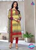 Kalakirti 1405 Yellow and Red Cotton Party Wear Suit
