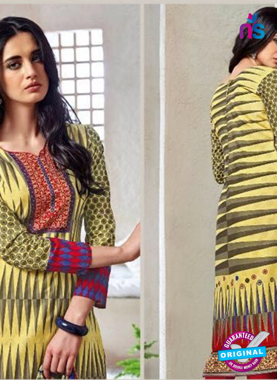 Kalakirti 1406 Blue and Yellow Cotton Party Wear Suit
