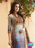 Vivek 1405 - Gray & Blue Color Cotton Designer Suit