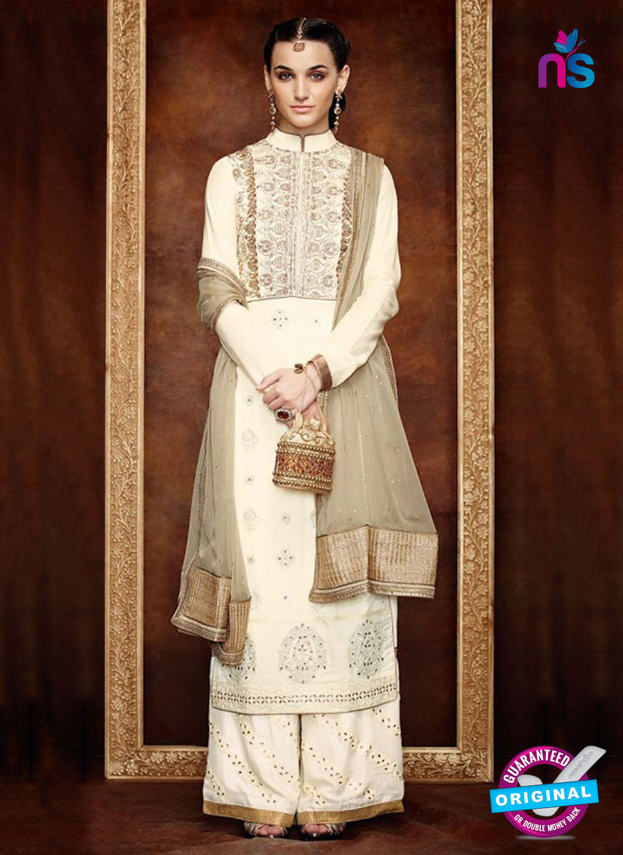 Kimora 1406 Beige Georgette Party Wear Straight Suit
