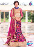 AZ 1092 Beige and Multicolor Silk Print Bhagalpuri Lehenga Choli