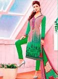 Kalakirti 1407 Green Color Glace Cotton Designer Suit