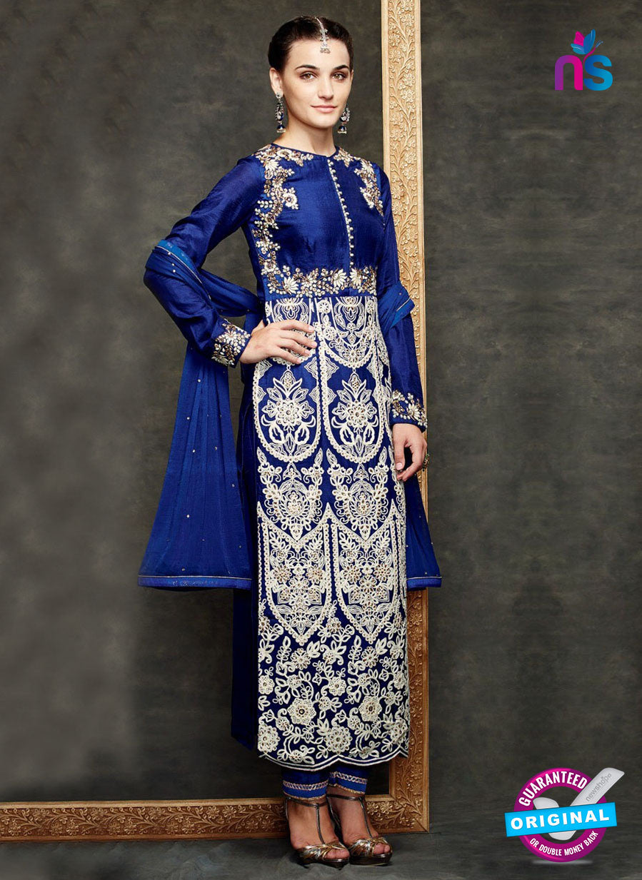 Kimora 1408 Blue Georgette Party Wear Straight Suit