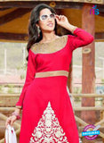 NS10255 Red Party Wear Suit Georgette Plazzo Suit