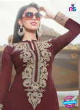 NS10258 Maroon and Beige Party Wear Suit Georgette Plazzo Suit