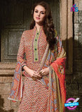 SC 14090 Orange Exclusive Fancy Designer Straight Suit