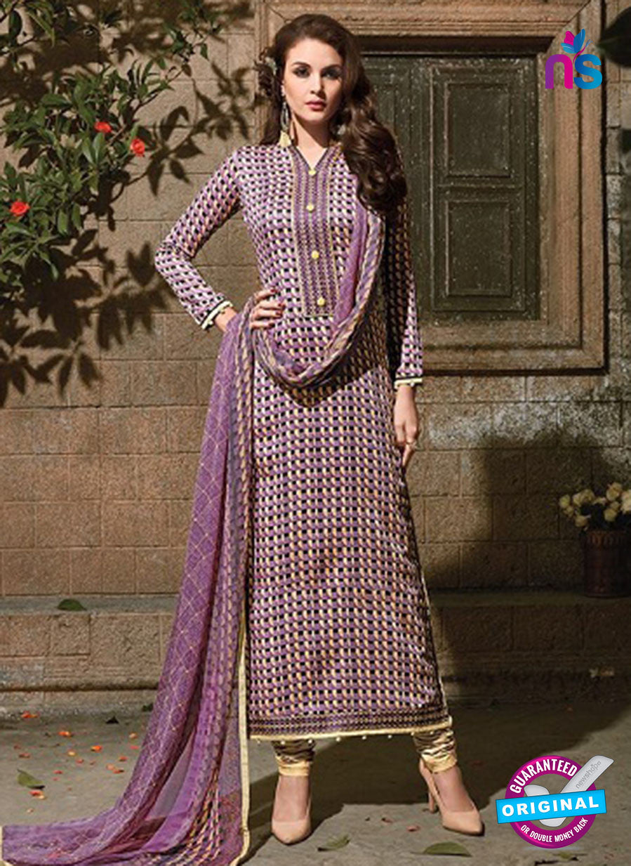 SC 14092 Purple and Beige Exclusive Fancy Designer Straight Suit