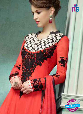 RT 14271 Red Georgette Anarkali Suit