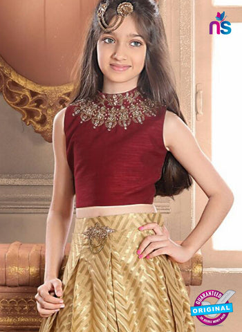 RT 14312 Golden Lehenga Choli