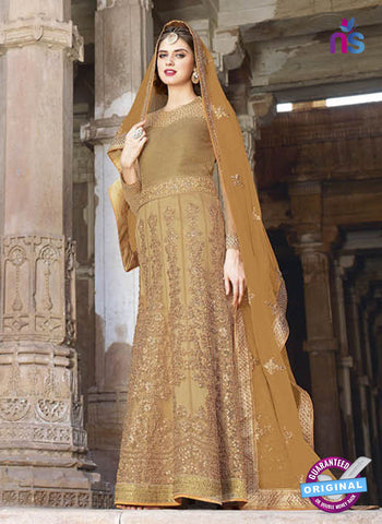 AZ 2365 Beige Embroidered Net Fancy Designer Gown