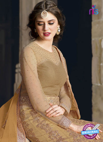 AZ 2365 Beige Embroidered Net Fancy Designer Gown - Gawns - NEW SHOP