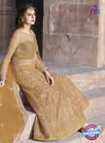 AZ 2365 Beige Embroidered Net Fancy Designer Gawn - Gawns - NEW SHOP