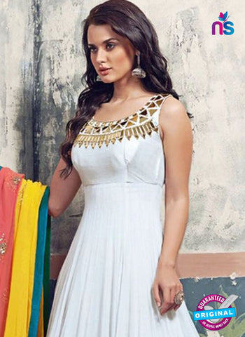 RT 14459 White Anarkali Suit