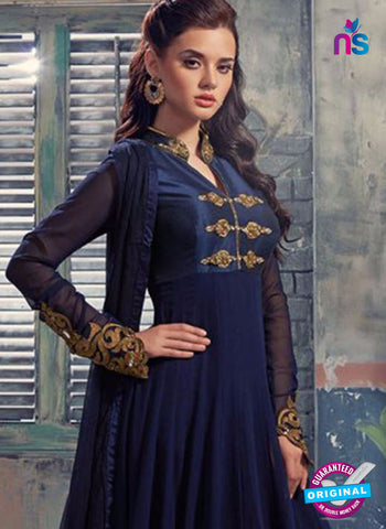 RT 14460 Blue Anarkali Suit