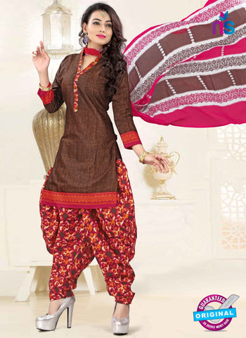 RT 16462 Brown Patiala Suit
