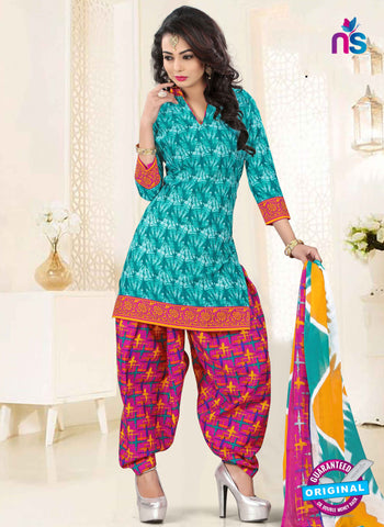 RT 16463 Sky Blue Patiala Suit