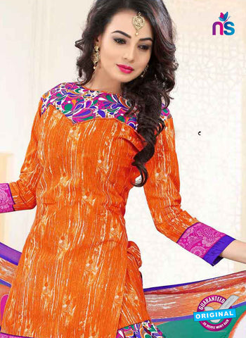 RT 16464 Orange Patiala Suit