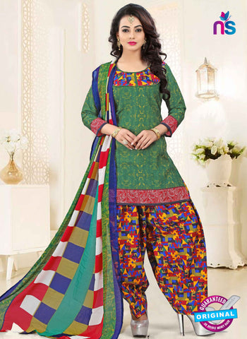 RT 16465 Green Patiala Suit