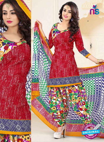 RT 16466 Red Patiala Suit