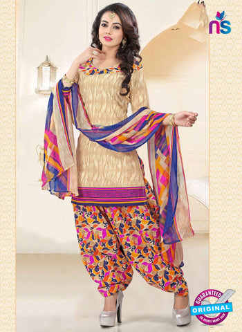RT 16467 Beige Patiala Suit