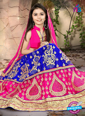 RT 14476 Blue and Pink Lehenga Choli