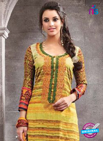 Kesari 1463 Yellow Cotton Fomal Suit