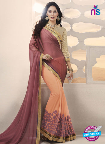 RT 14642 Peach Party Wear Saree