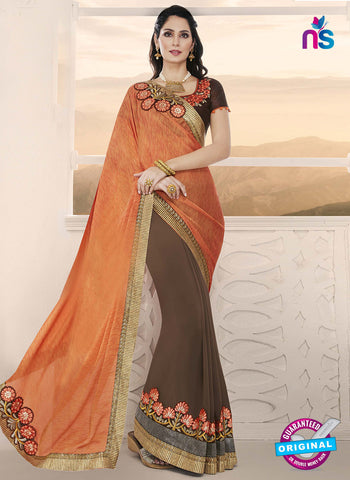 RT 14648 Brown Party Wear Saree