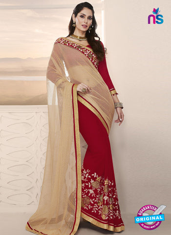 RT 14649 Red Party Wear Saree