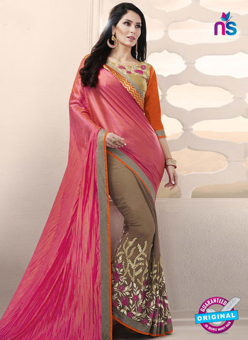RT 14650 Beige Party Wear Saree